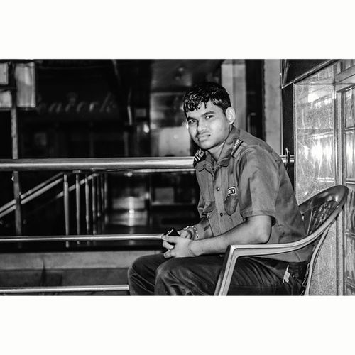 Another Security guard ?.. who make you feel safe in a deserted night? Theme: Darkknight ...given by @anu1595 Bangalore 100ftroad Bokeh bnw blacknwhite blackandwhite