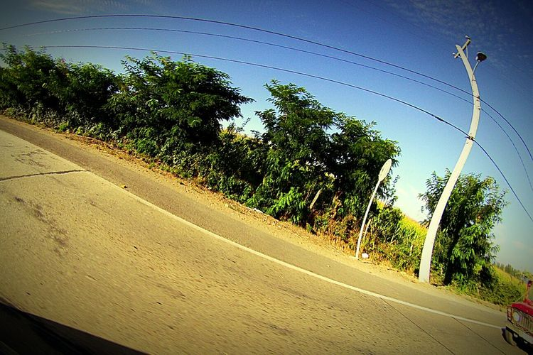Need For Speed 4x4 Tree Sky Lamppost Speed Simplicity Chile Relaxing Hello World Linares Gopro Granangular Wideangle Blue Color Colors Cityscapes l LinaresCity Distortion Streetphotography Street Intothecar Powerlines Skyandtree Greentree