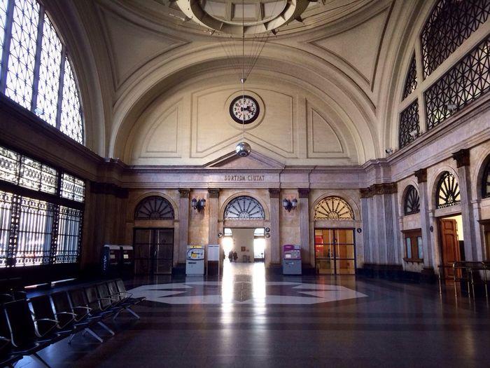 Architecture Train Station Building Barcelona