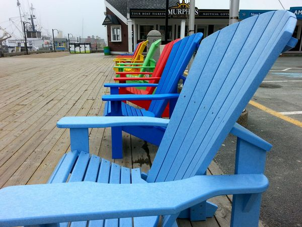 Waiting to be filled. My City Waterfront Halifax Morning Walk Deck Chairs