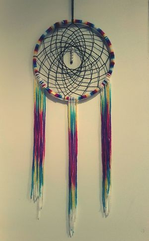 Sweet dreams, my dear. Art And Craft Multi Colored Dreamcatcher Hanging No People Close-up Phone Photography Stonergirl Art Is Everywhere First Eyeem Photo Hobbyphotography Craft Decoration Homemade Creating