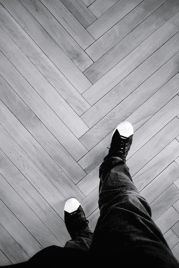 walk away Walking Around Walkway Walk Away Alone Walking Black & White Taking Photos Blackandwhite Black And White Monochrome EyeEm Best Shots EyeEm Best Shots - Black + White EyeEm Gallery Adidas Superstars Adidas Superstar One Person Shoe Indoors  Real People Human Body Part Human Leg Day Low Section People Adults Only Adult One Man Only Personal Perspective