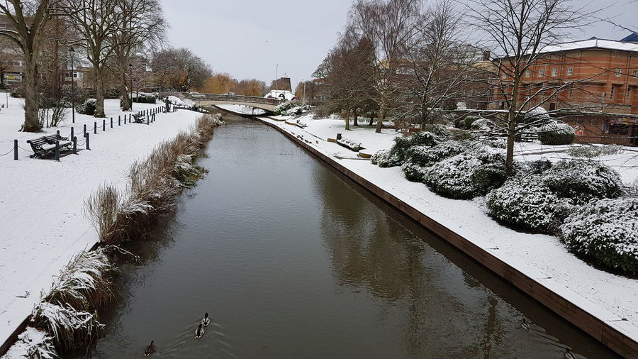 Victoria Park Stafford Cold Snow Check This Out Hello World Winter Taking Photos Beauty In Nature Beautiful River River Sow #christmas 2017 Xmas December Reflection Winter Snow Outdoors Water No People Nature Day Cold Temperature Tree