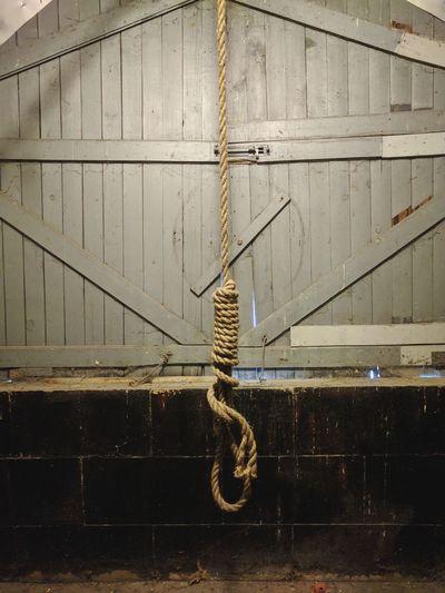 Old Ottawa Jail hangman's noose Nooseknot Noose Hangman Hang Hanging Prison Jail Criminal Deathrow Death Ottawa Animal Themes Punishment Prisoner