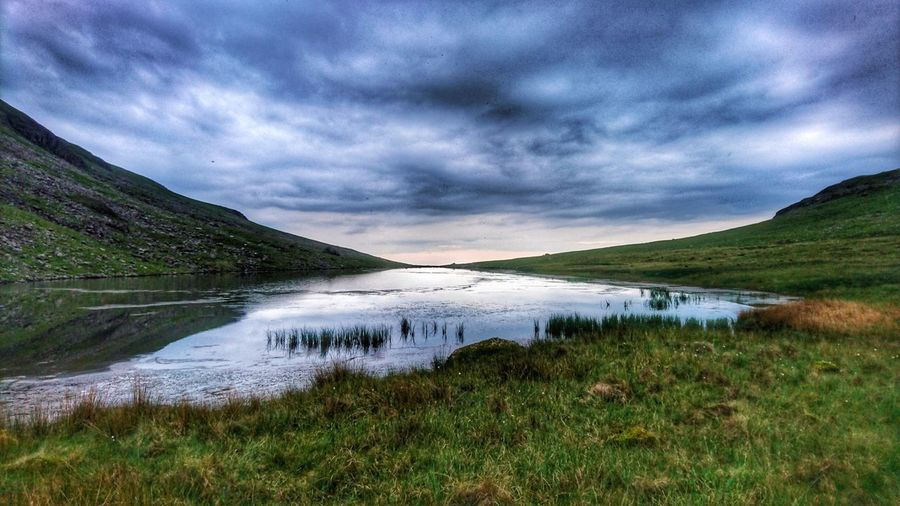 Water Landscape Nature Outdoors Scenics Cloud - Sky Grass Lake Beauty In Nature Mountain No People Beauty Waterfall Day Sky The Great Outdoors - 2017 EyeEm Awards
