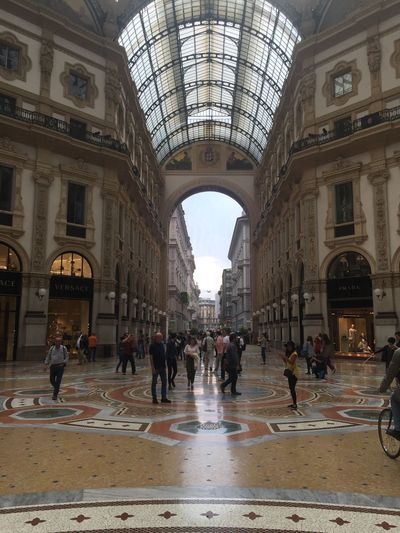 Arch Architectural Feature Architecture Built Structure Capital Cities  City City Life Galleria Vittorio Emanuele Lifestyles Tourism Tourist Travel Destinations