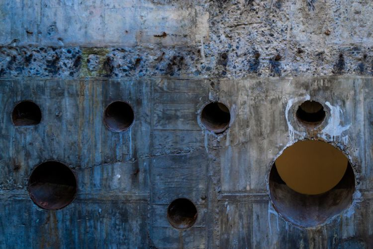 ginza sony park Concrete Hole Wall Ginza Sony Backgrounds Full Frame Textured  Wood - Material Paint Close-up Weathered