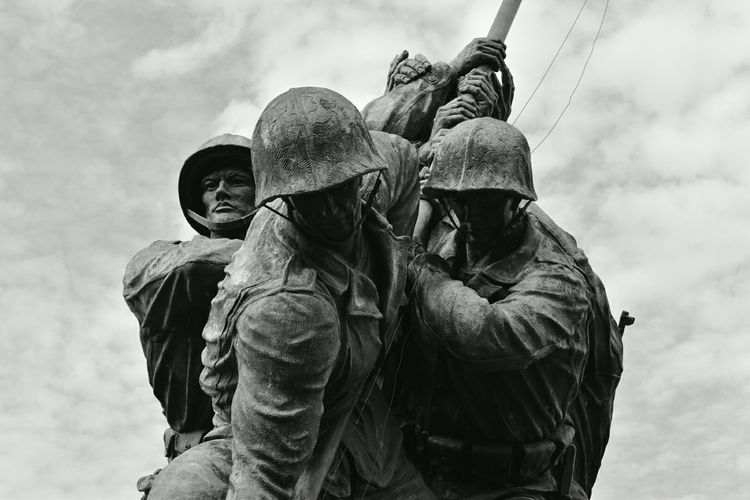 USMC Marines Iwojima Worldwar2 Monuments Usmilitary Sightseeing Taking Photos EyeEm Best Shots Eyeem Monochrome Eyemphotography Tadaa Community Photooftheday Nikonphotography Monochromatic Monocrome Monochrome Veteran