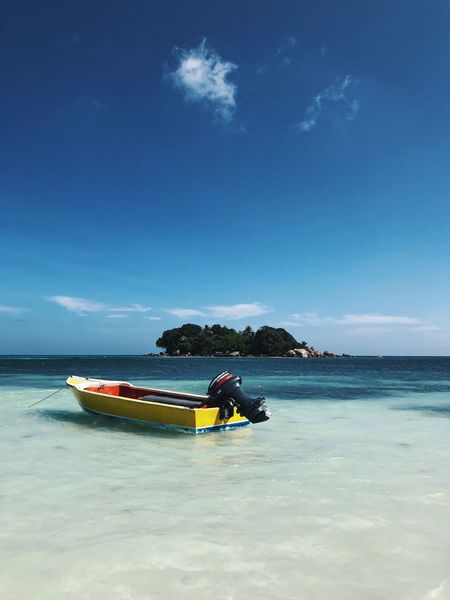 Views of Seychelles Water Nautical Vessel Sea Sky Beauty In Nature Beach Nature First Eyeem Photo
