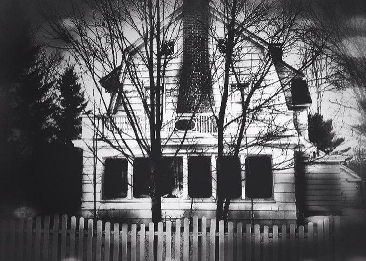 Creepy House Amityville Horror HDR Bokeh