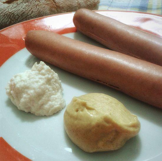 """ Würstel, Rafano, Senape"". Food Photography Food Porn Food Snacks! Sausage Hot-dog Knackwurst My World Of Food Smartphone Photography Mobile Photography S3mini VSCO Eyeemfilter"