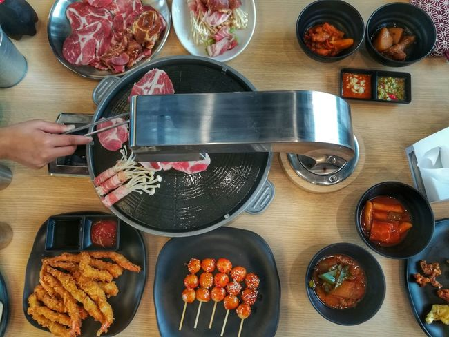 Lunch Buffet Time Korean Food High Angle View Ready-to-eat Food Huaweiphotography EyeEm Thailand Huawei Collection