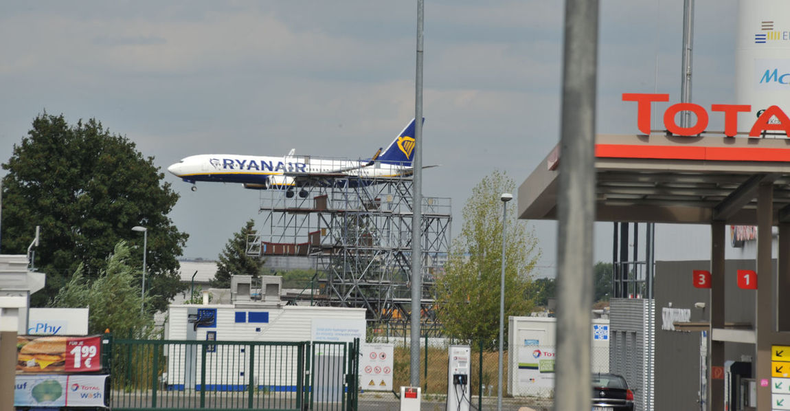 Airport Berlin Germany Ryan Air Schönefeld Airport Tankstelle Airportphotography Architecture Building Exterior Built Structure Communication Day Landung Low Cost Airlines Low Cost Traveler Mode Of Transportation Nature No People Outdoors Ryanair Sign Sky Text Transportation