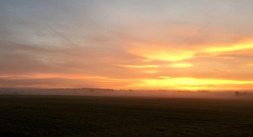 Good Morning Sunrise Nature Franken