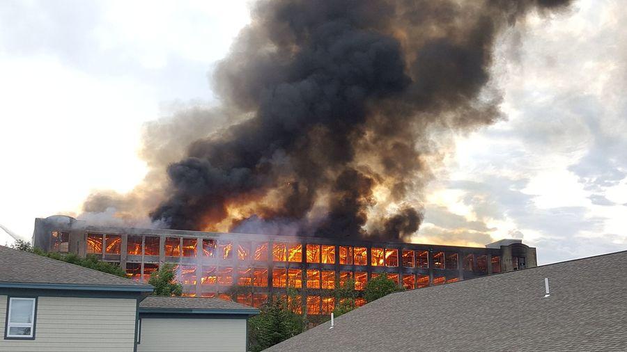 5 Alarm Fire Mills Sanford Maine New England  Structure Fire