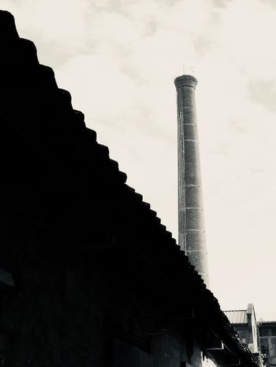 Architecture Low Angle View Built Structure Industry Factory Smoke Stack Sky No People Building Exterior Outdoors Day Chimney IPhoneography