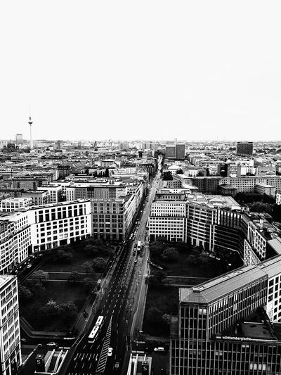 Architecture Built Structure Cityscape Building Exterior Outdoors Day High Angle View City No People Clear Sky Sky Leipzigerplatz Berlin Berlin Photography Blackandwhite Scenics Tranquility Cloud - Sky Cityscapes