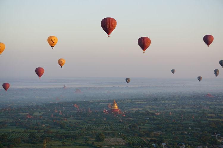 Balloons over Bagan Bagan Bagan, Myanmar Balloons Over Bagan Balloons Over Pagodas In Bagan Hot Air Balloon Mandalay Myanmar Pagoda Pagodas