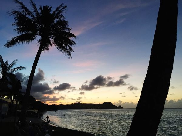 Beach Traveling In Guam Sunset