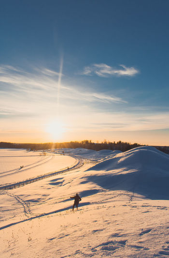 Snow Cold Temperature Winter Sky Beauty In Nature Scenics - Nature Land Environment Nature Non-urban Scene Landscape Sunset Tranquil Scene Tranquility Cloud - Sky Outdoors Winter Scandinavia Uppsala
