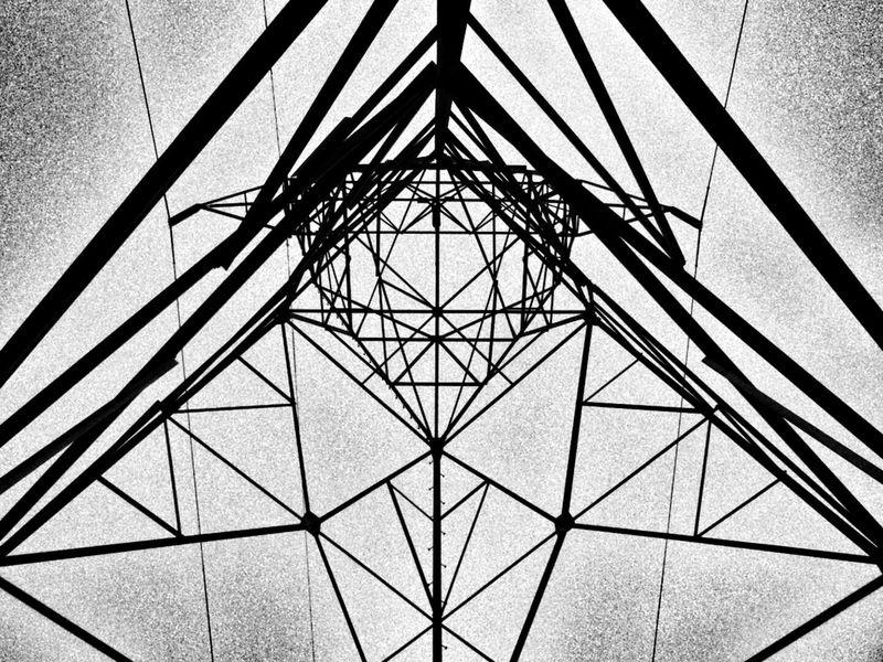 Pattern Low Angle View Full Frame No People Architecture Symmetry Built Structure Backgrounds Steel Day Girder Sky Indoors  Wires Lines And Shadows Lines Everywhere Lines, Shapes And Curves Power Line  Power Line  Shapes , Lines , Forms & Composition Shapes In The Sky Angles And Lines Streetphotography Wires And Cables Telephone Line Art Is Everywhere