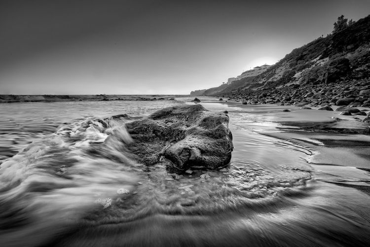 What do you prefer? Color or black and white? Atlantic Ocean EyeEmNewHere Fuerteventura HDR Rock Rock Formation Beauty In Nature Blackandwhite Clear Sky Day Landscape Long Exposure Mountain Nature No People Outdoors Rock - Object Scenics Sea Sky Sunset Tranquil Scene Tranquility Water Waves