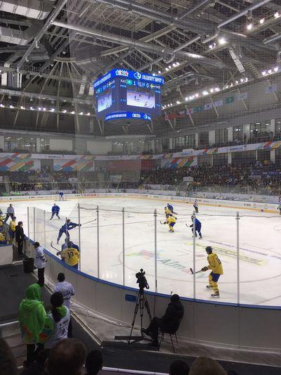 Sport Hockey Stadium Ice Hockey Sports Team Ice Rink People Competitive Sport Men Teamwork Match - Sport Outdoors Day Indoors