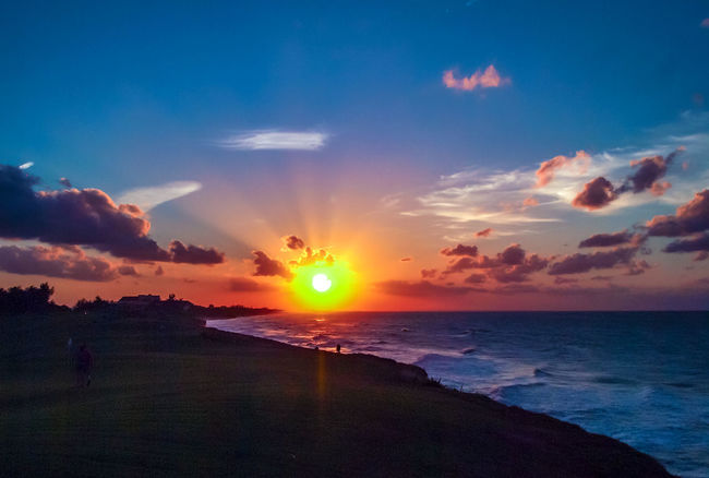 Cuba Cuba Collection Cuban Sunset Seascape Photography Sunlight Beach Beauty In Nature Clouds And Sky Horizon Over Water Nature No People Outdoors Scenics Sea Sea And Sky Seaside Sky Sun Sunbeams Sunset Tranquil Scene Tranquility Water