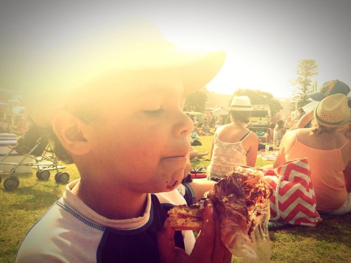 Nothing better than a chocolate biscuit in the park.