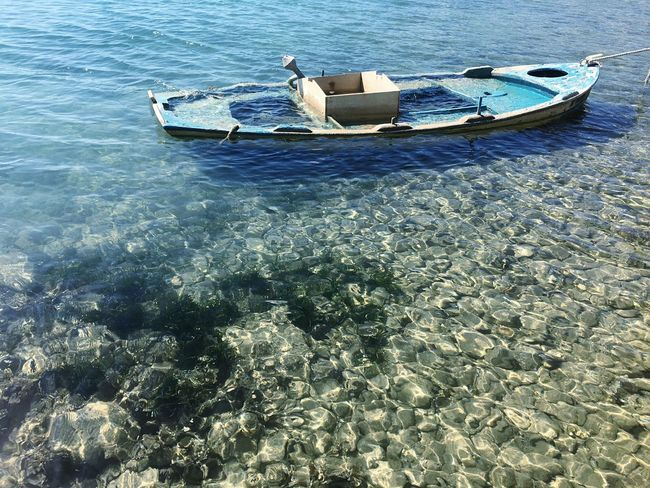 Water Sea Outdoors Day No People Nature Nautical Vessel Floating On Water Sinking UnderSea Boat Summer Sinking Ship Sinkingboat Abandoned Transportation Crystal Clear Crystal Clear Waters Crete Lasithi Sun Roadtrip Vintage