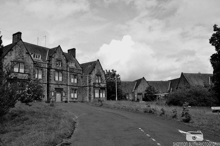 Building Exterior Sky Built Structure Outdoors Architecture No People Landscape Day Leading Lines Blackandwhite Black And White Bangour Bangour Village Hospital Abandoned Buildings Derelict Scotland Old Buildings Haunted EyeEmNewHere