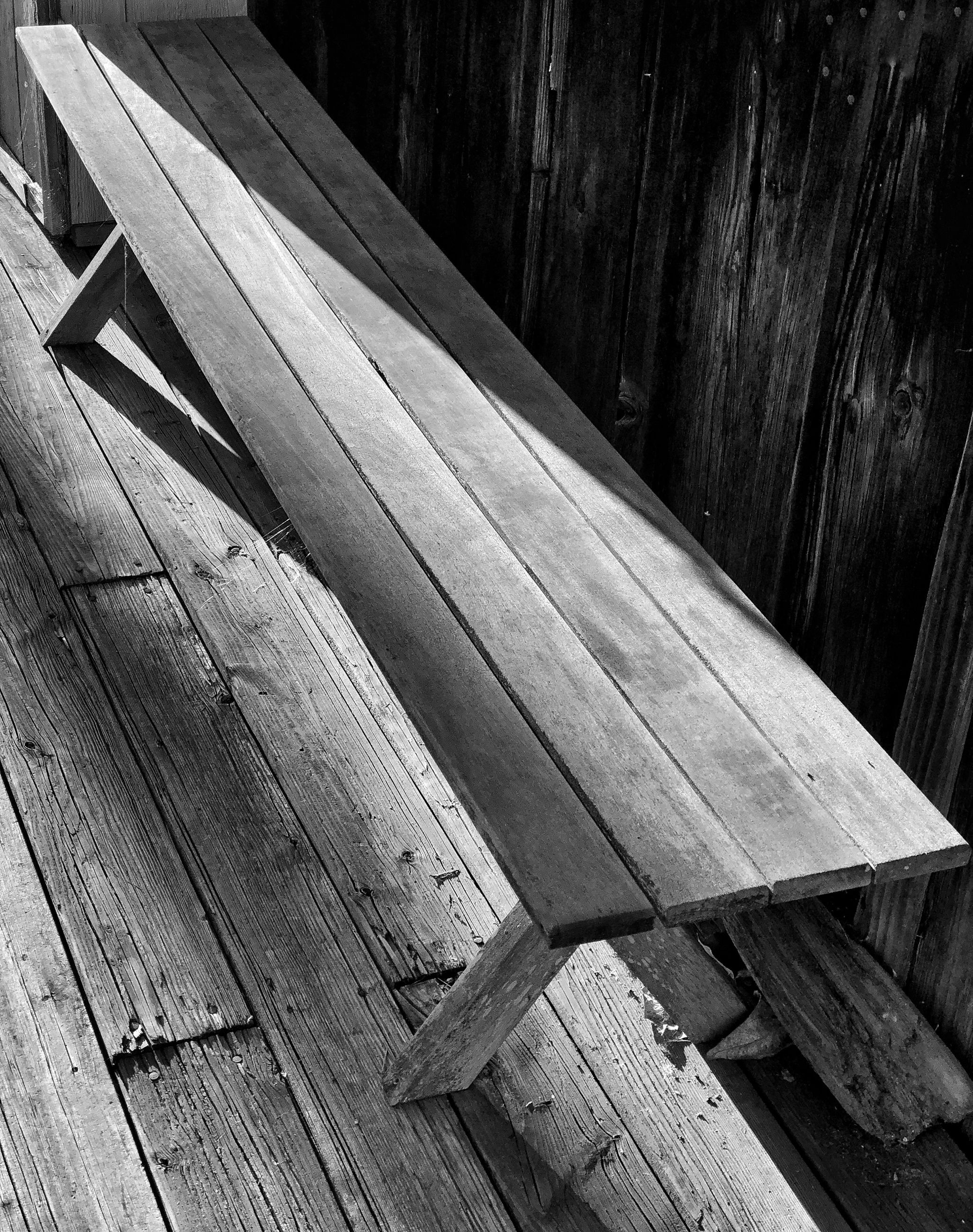 wood - material, no people, plank, high angle view, day, seat, wood, pattern, indoors, built structure, bench, empty, architecture, absence, old, close-up, textured, weathered, floorboard