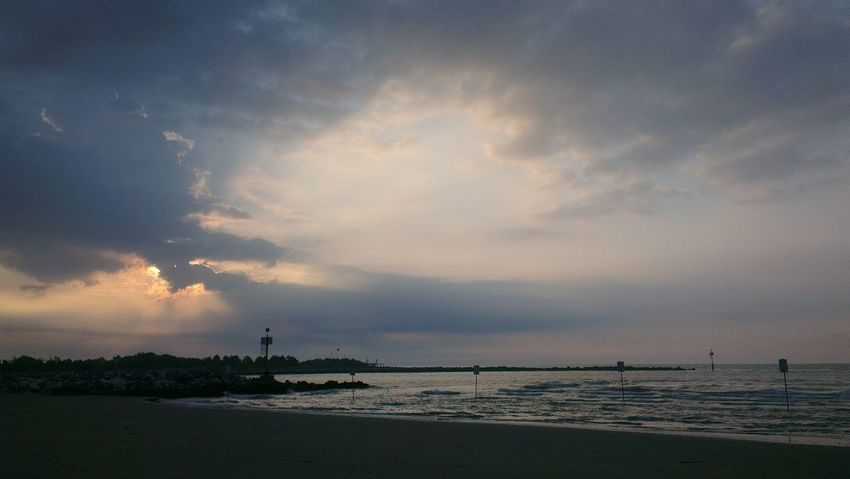 Sunset in Jesolo Born To Be Wild On The Road Sunset Sea Landscape Goodmorning