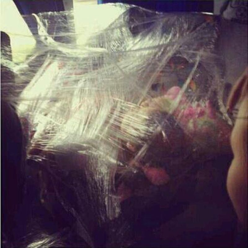 when Brandi got surround wrap last year on the trip (; #memories #paybackforallthepranks #wichitafalls #sweet16 #chapinsoccer