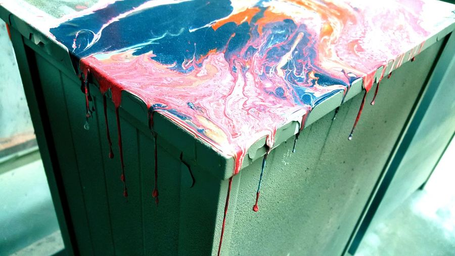 No People Industry Close-up Paint Spilled Paint Drip Dripping Paint Perspectives On Nature Rethink Things Colors Colourful Creepy? Rainbow Splash Fractals