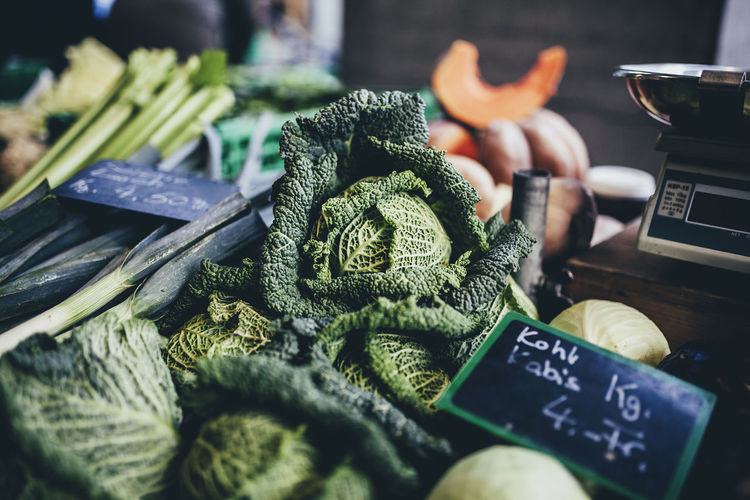 Market in Berne Green Keto Scale  Winter Day Food Food And Drink For Sale Freshness Healthy Healthy Eating Kale Lowcarb Market No People Price Tag Pumpkin Small Business Vegetable Vegetables