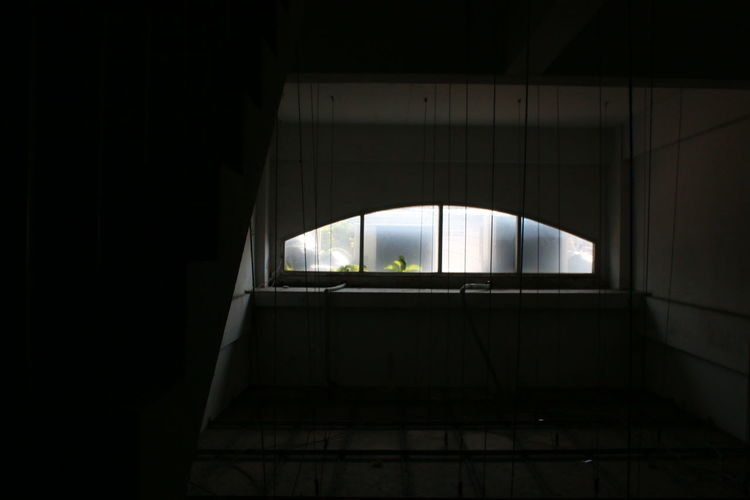 Low angle view of silhouette of building