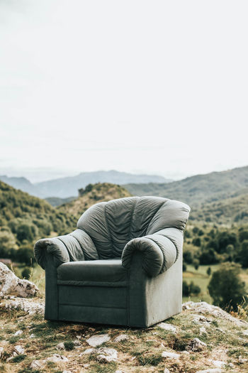 Sofa in the nature