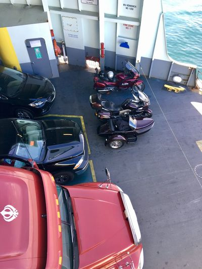 Ferry Ride Transportation High Angle View Mode Of Transport Day No People Outdoors Bmw Motorcycle Bmw Bikes Cross The Water ArtInMyLife PT Ferry WA Love Washington Travel Travelling Traveling Photography