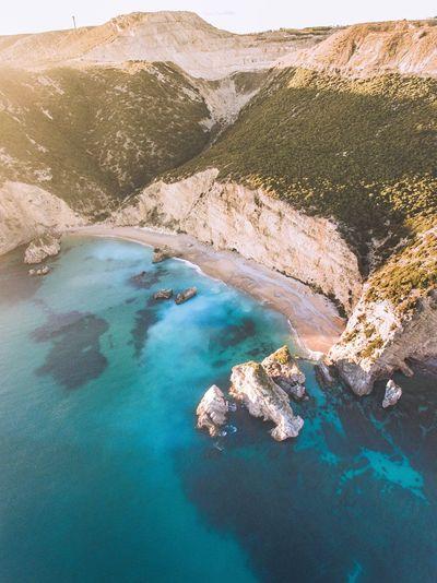 High angle view of coast