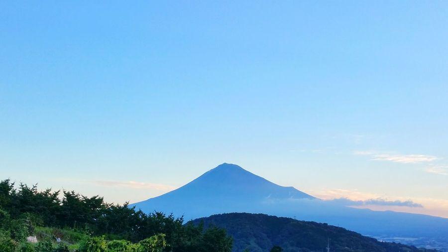 秋の空と秋の富士山。 Mt.Fuji 富士山 秋の空 Hello World