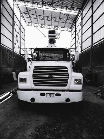 Black & White Car Crane Bw Crane Truck