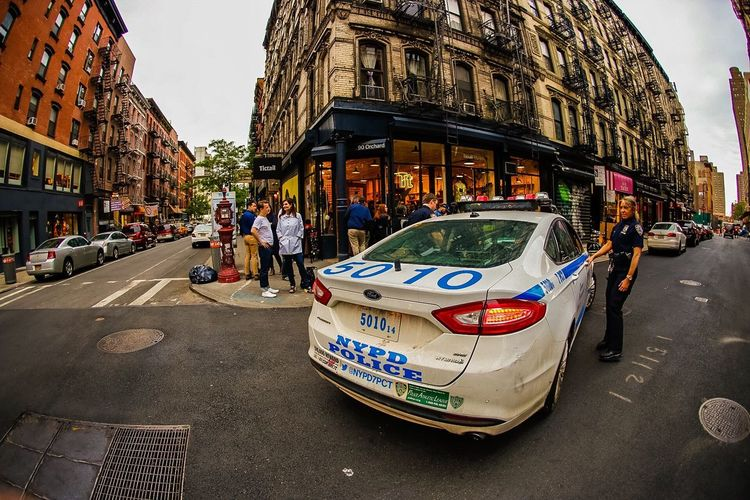MeinAutomoment NYC Photography New York City NYPD Police Car Police Woman Street Photography Fisheye Street Photography Fisheye Travel Travel Photography Photography Photographer ShawnBaz Shawnbazinet EyeEm Event Manhattan Cityscapes