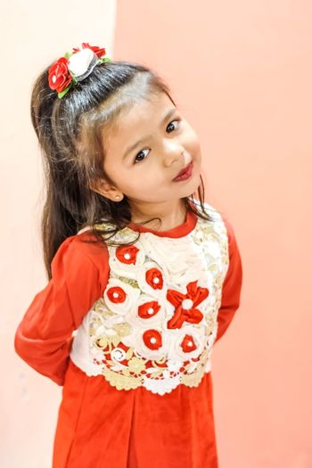 Tiara Portrait Child Childhood Headband Studio Shot Girls Smiling Looking At Camera Red Princess Christmas Ornament Christmas Santa Claus Moments Of Happiness It's About The Journey My Best Photo