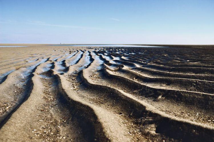 Sand groove in wadden sea