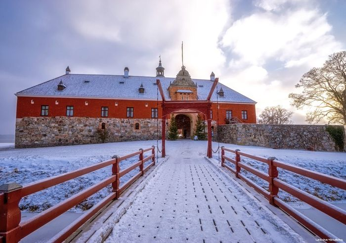 Entrance to Gripsholms castle. Tornephoto Gripsholm Castle Sörmland