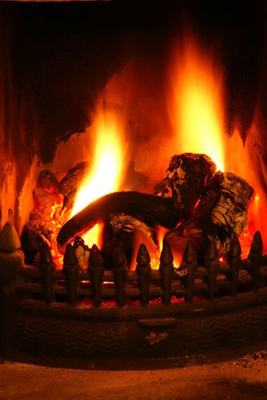 Burning Fire Firewood Flame Glowing Heat - Temperature Night Orange Color