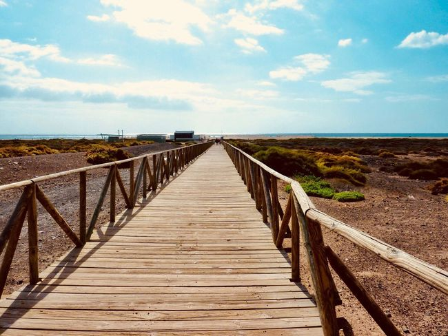 Tranquil Scene Sea Sky Tranquility Water Nature The Way Forward Scenics Beauty In Nature Horizon Over Water Day Wood Paneling Cloud - Sky Railing Jetty Pier Outdoors Wood - Material No People Beach