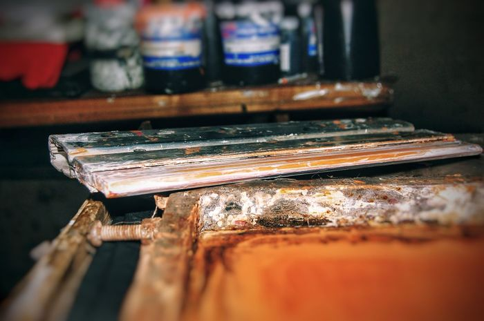 EyeEm Selects Serigrafia Arte Art Colors No People Day Nikonphotographer Nikon_photography Nikonphotographers Nikon Photography Nikonphotography Colores White Color Black Color Green Color Orange Color Paint Nikon Artist Yellow Color Color Swatch Palette Indoors  Close-up
