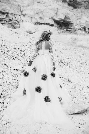 Wedding Sand Beach Wedding Dress Bride Wedding Ceremony Fashion Celebration Ceremony Nature Day Outdoors Bridegroom People